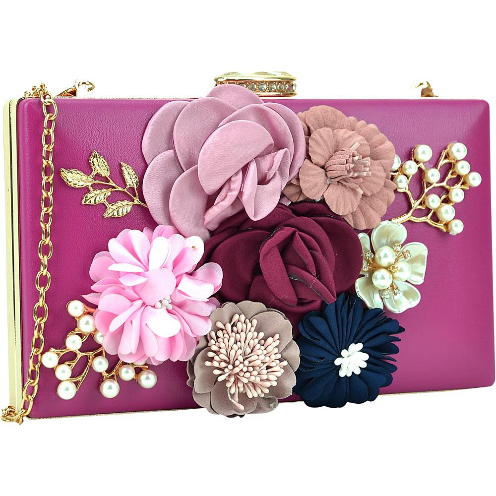 Dasein Fashion Frame Evening Clutch Rose - Dasein Evening Bags - Handbags, Evening Bags
