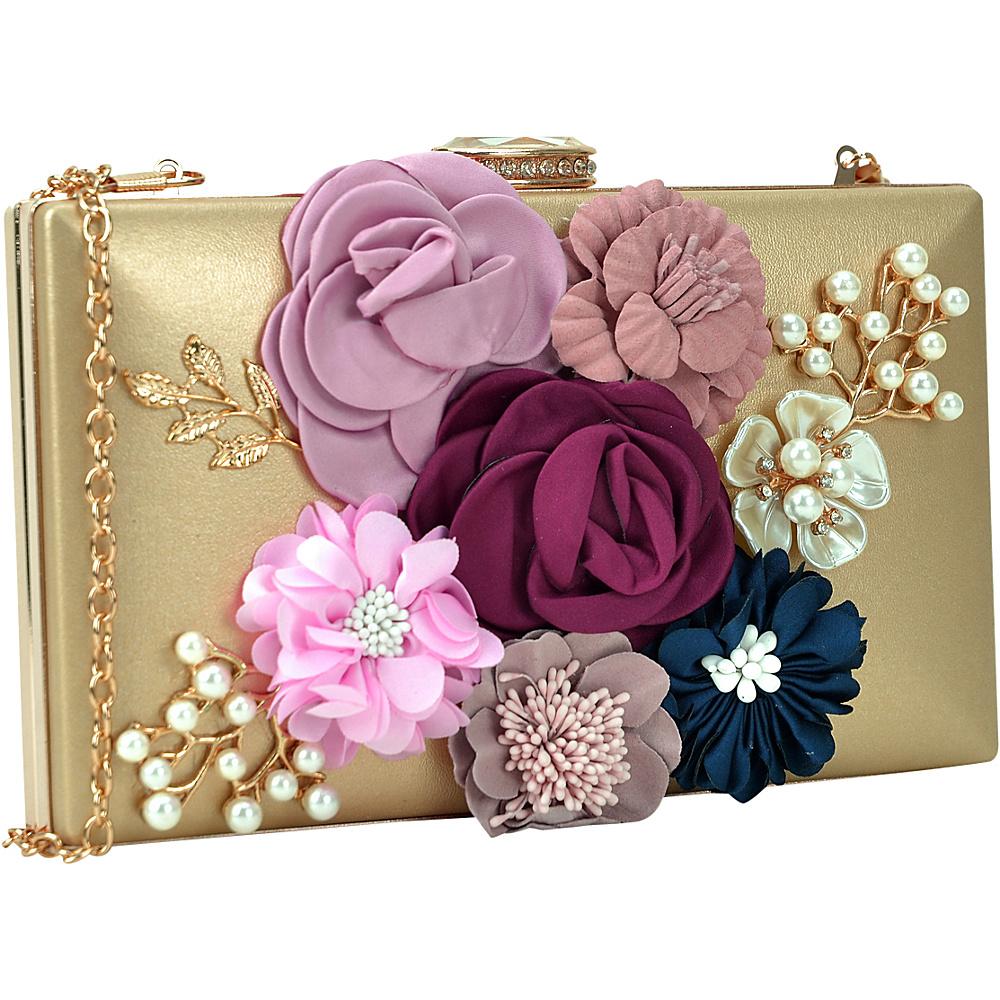 Dasein Fashion Frame Evening Clutch Gold - Dasein Evening Bags - Handbags, Evening Bags