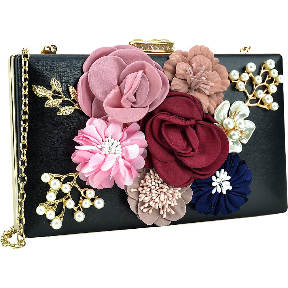 Dasein Fashion Frame Evening Clutch Black - Dasein Evening Bags - Handbags, Evening Bags