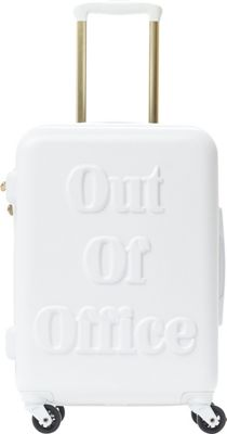 MacBeth Out of Office 21 inch Expandable Hardside Carry-On Spinner Luggage White - MacBeth Hardside Carry-On