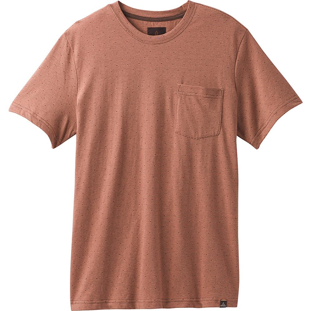 PrAna Ryann Short Sleeve Crew Shirt S - Brown Cloves - PrAna Mens Apparel - Apparel & Footwear, Men's Apparel