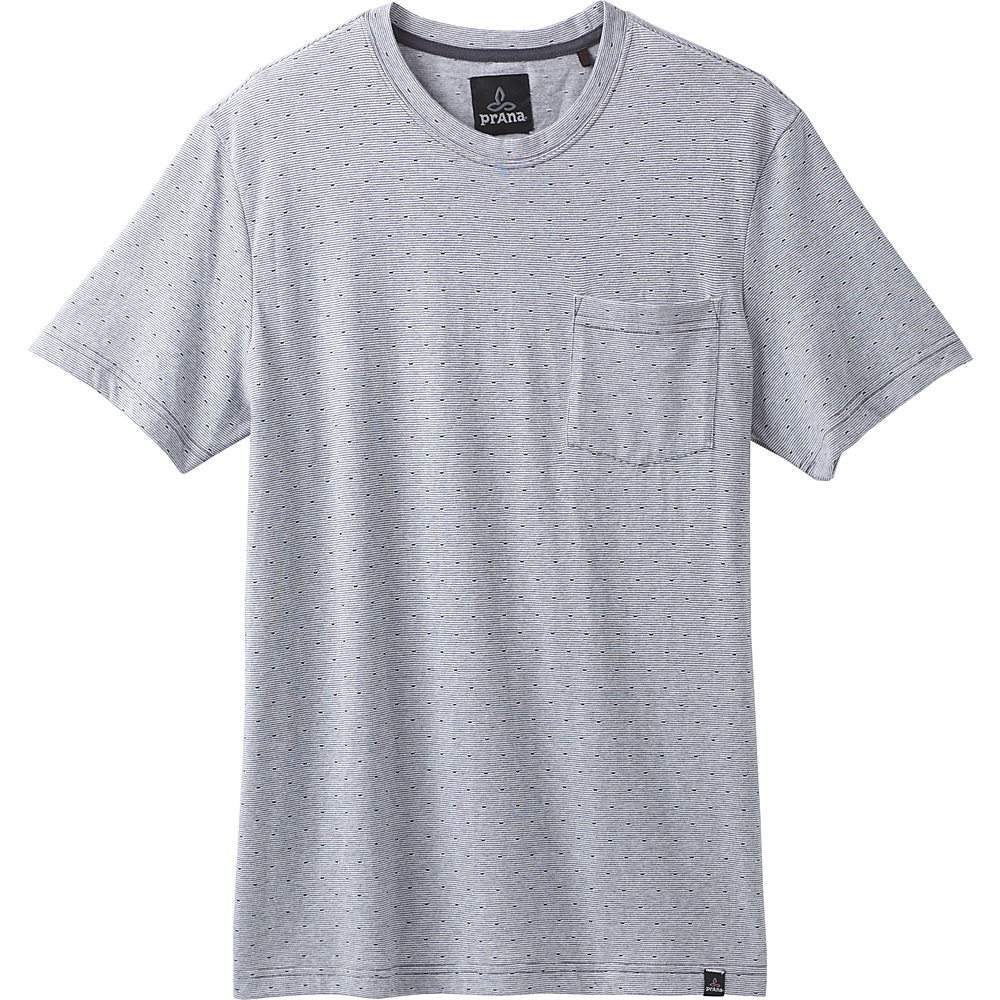PrAna Ryann Short Sleeve Crew Shirt L - Coal - PrAna Mens Apparel - Apparel & Footwear, Men's Apparel
