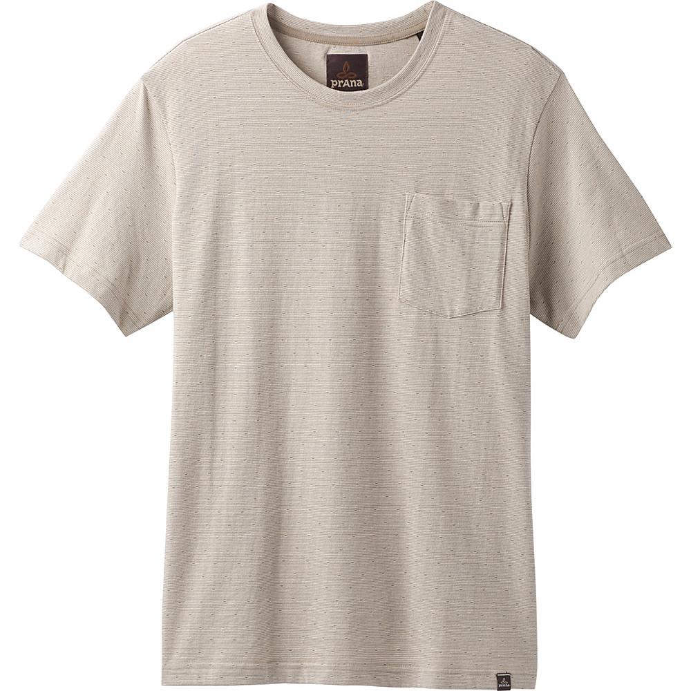 PrAna Ryann Short Sleeve Crew Shirt XL - Khaki - PrAna Mens Apparel - Apparel & Footwear, Men's Apparel