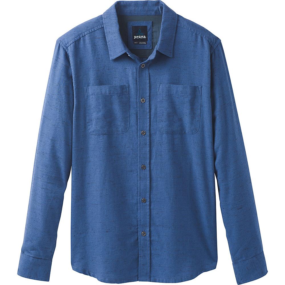 PrAna Trey Long Sleeve Flannel L - Equinox Blue - PrAna Mens Apparel - Apparel & Footwear, Men's Apparel