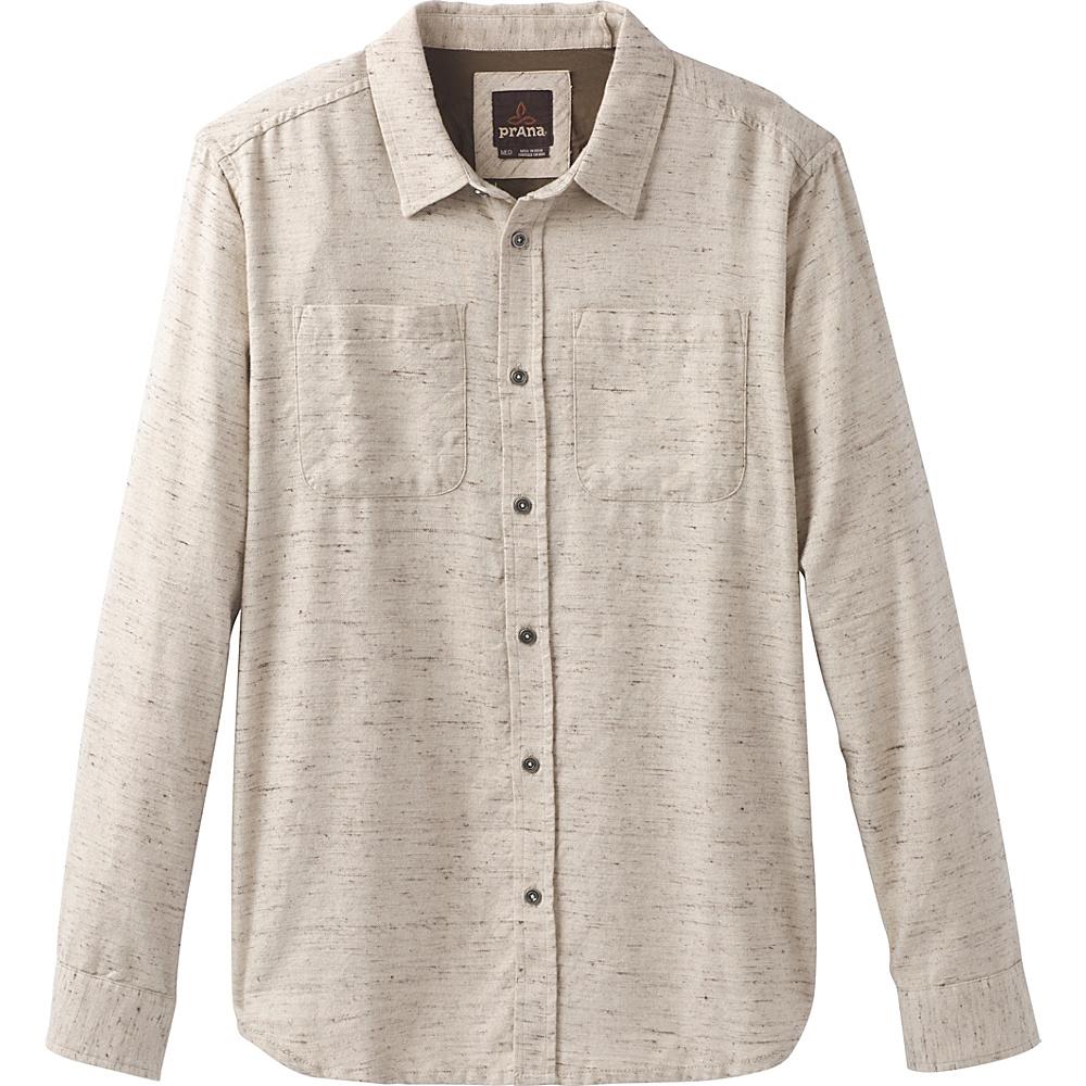 PrAna Trey Long Sleeve Flannel XL - Stone - PrAna Mens Apparel - Apparel & Footwear, Men's Apparel