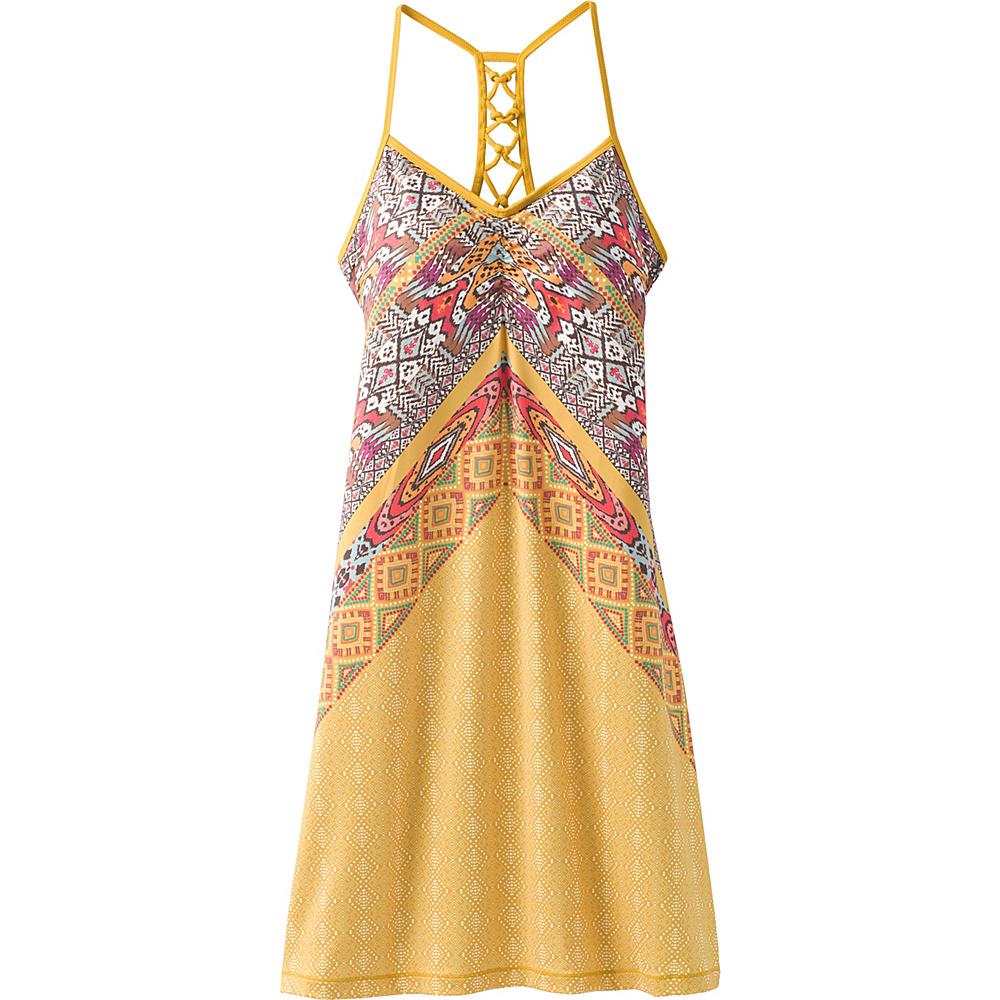 PrAna Elixir Dress M - Marigold Marrakesh - PrAna Womens Apparel - Apparel & Footwear, Women's Apparel