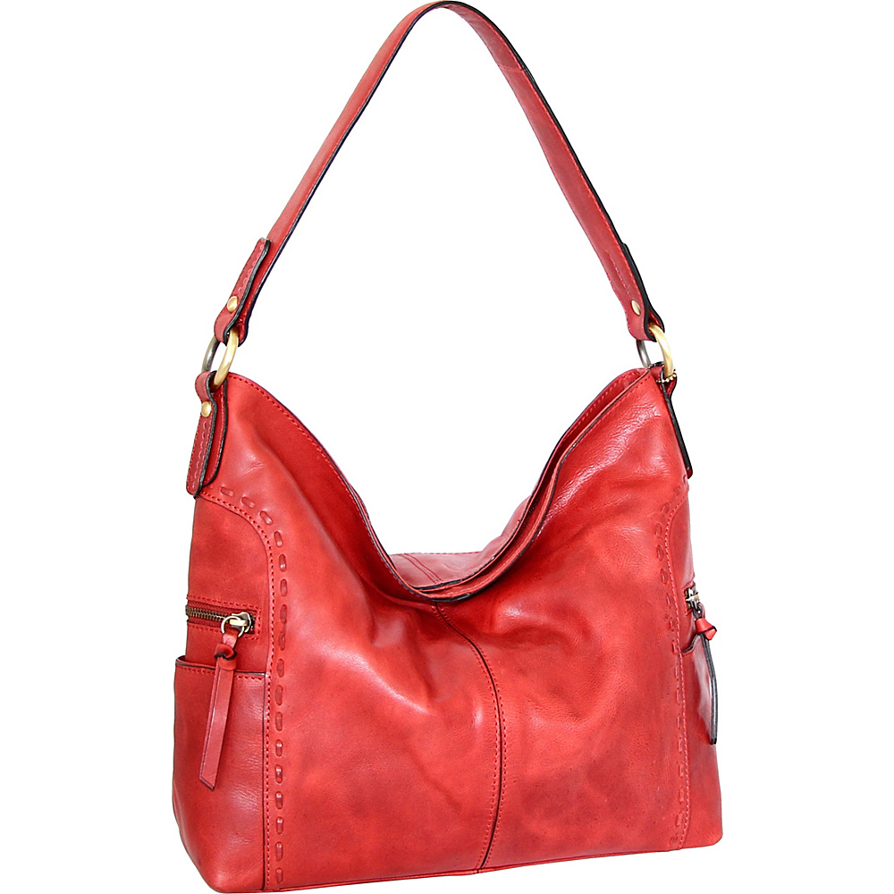 Nino Bossi Misty Shoulder Bag Red - Nino Bossi Leather Handbags - Handbags, Leather Handbags