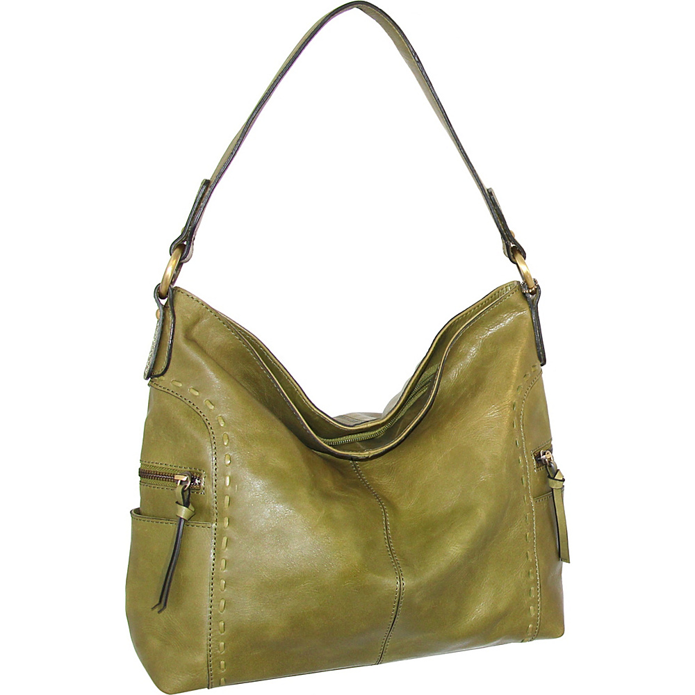 Nino Bossi Misty Shoulder Bag Avocado - Nino Bossi Leather Handbags - Handbags, Leather Handbags