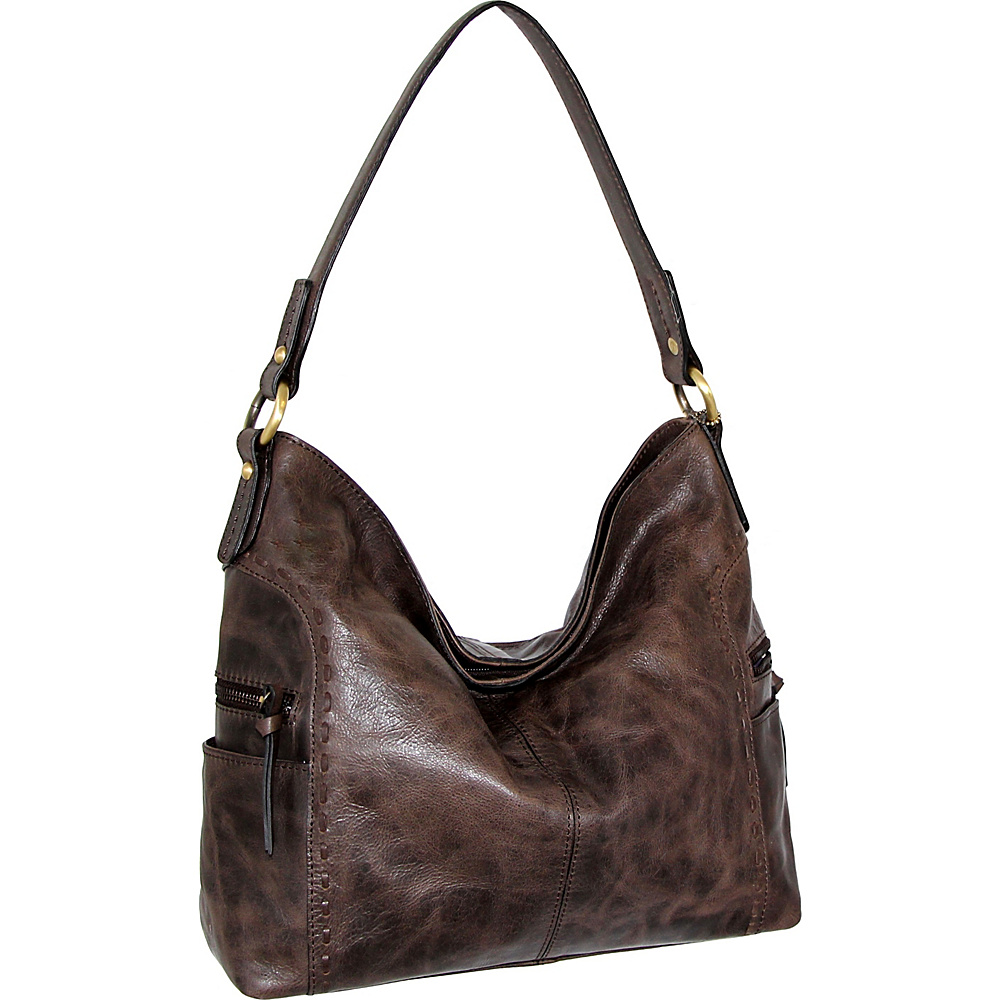 Nino Bossi Misty Shoulder Bag Chocolate - Nino Bossi Leather Handbags - Handbags, Leather Handbags