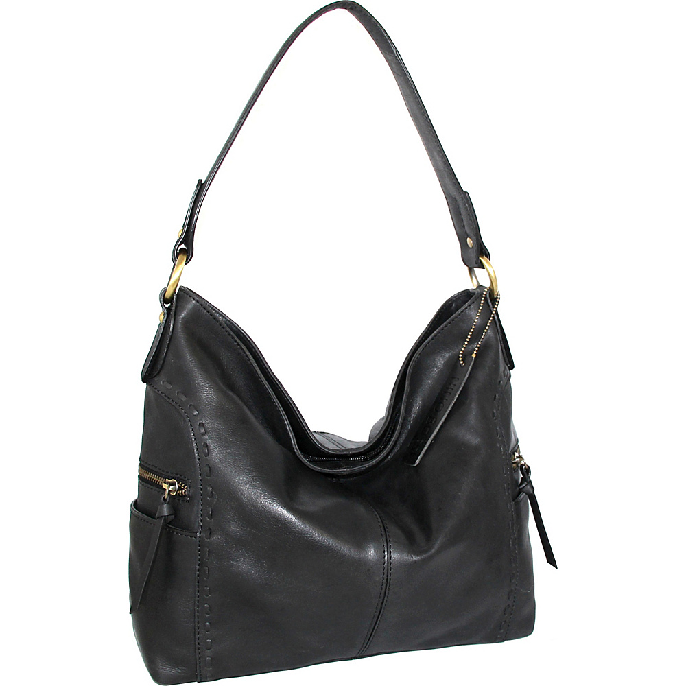 Nino Bossi Misty Shoulder Bag Black - Nino Bossi Leather Handbags - Handbags, Leather Handbags