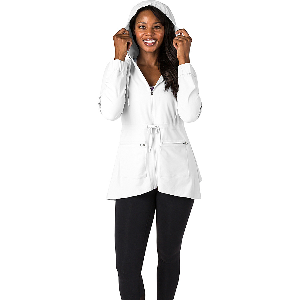 Soybu Womens Bustle Jacket L - White - Soybu Womens Apparel - Apparel & Footwear, Women's Apparel