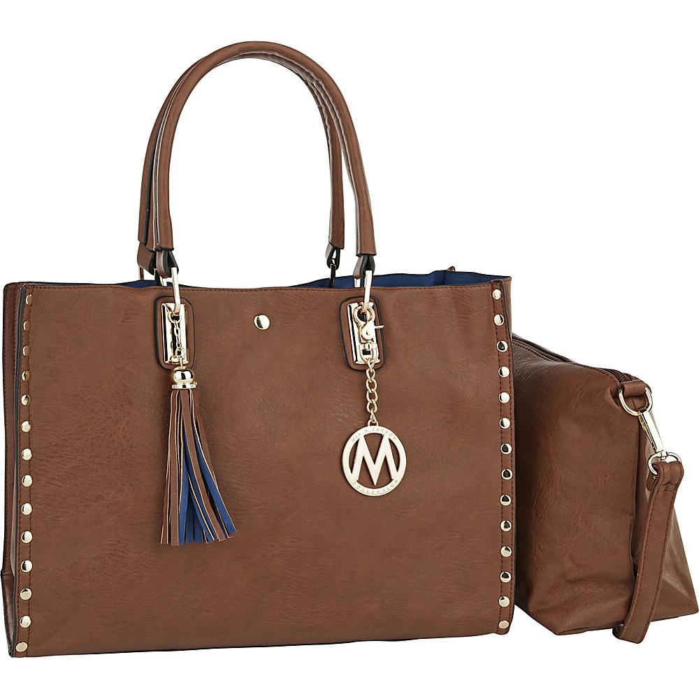 MKF Collection by Mia K. Farrow Isa Satchel Brown - MKF Collection by Mia K. Farrow Manmade Handbags - Handbags, Manmade Handbags