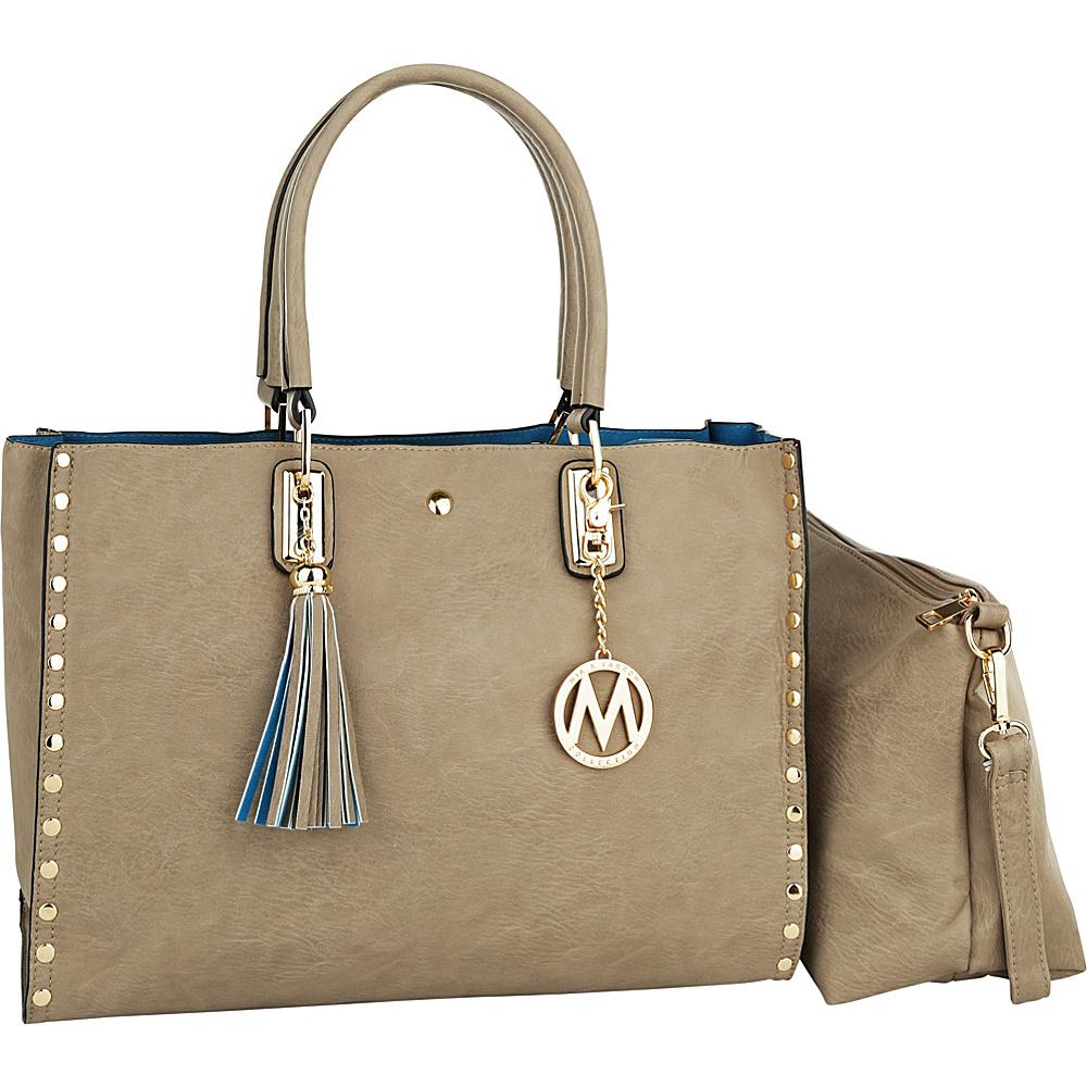 MKF Collection by Mia K. Farrow Isa Satchel Stone - MKF Collection by Mia K. Farrow Manmade Handbags - Handbags, Manmade Handbags