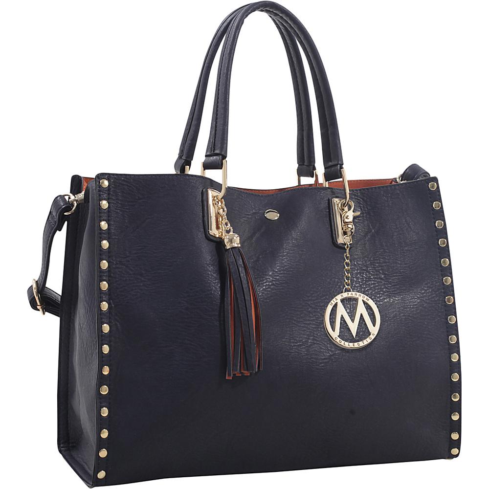 MKF Collection by Mia K. Farrow Isa Satchel Navy - MKF Collection by Mia K. Farrow Manmade Handbags - Handbags, Manmade Handbags
