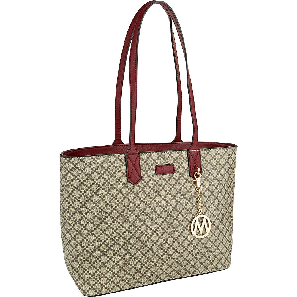 MKF Collection by Mia K. Farrow Daisha Tote Burgundy - MKF Collection by Mia K. Farrow Manmade Handbags - Handbags, Manmade Handbags