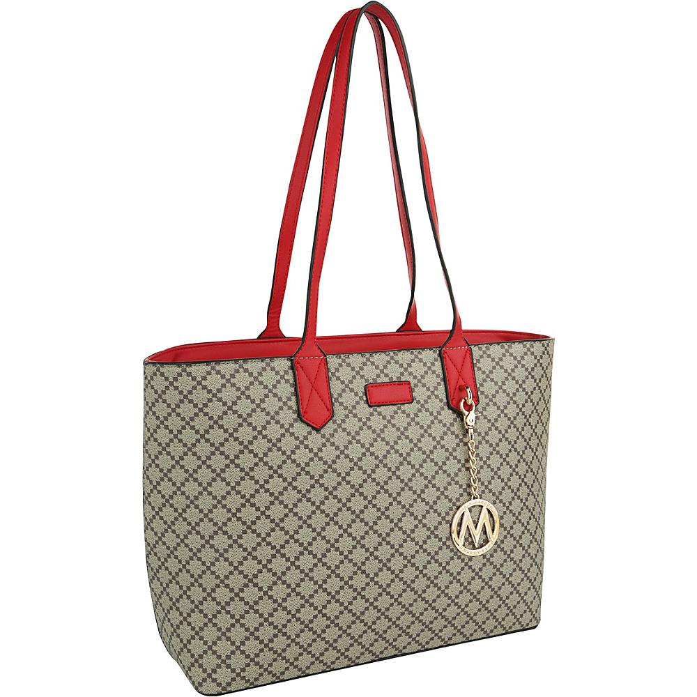 MKF Collection by Mia K. Farrow Daisha Tote Red - MKF Collection by Mia K. Farrow Manmade Handbags - Handbags, Manmade Handbags