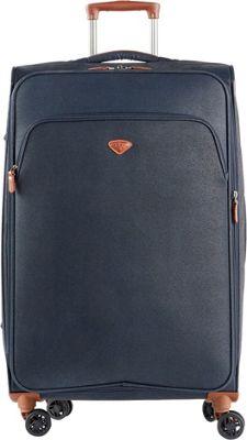 Jump Uppsala Large Expandable Spinner Suitcase Navy - Jump Softside Checked