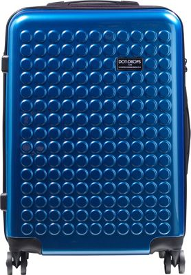 Dot Drops Chapter 2 25 inch Hardside Checked Spinner Luggage Ice Blue - Dot Drops Hardside Checked