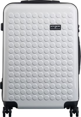 Dot Drops Chapter 2 25 inch Hardside Checked Spinner Luggage White - Dot Drops Hardside Checked