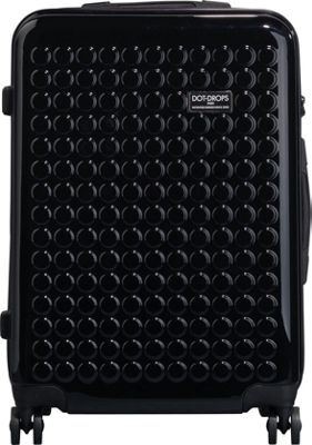 Dot Drops Chapter 2 25 inch Hardside Checked Spinner Luggage Black - Dot Drops Hardside Checked