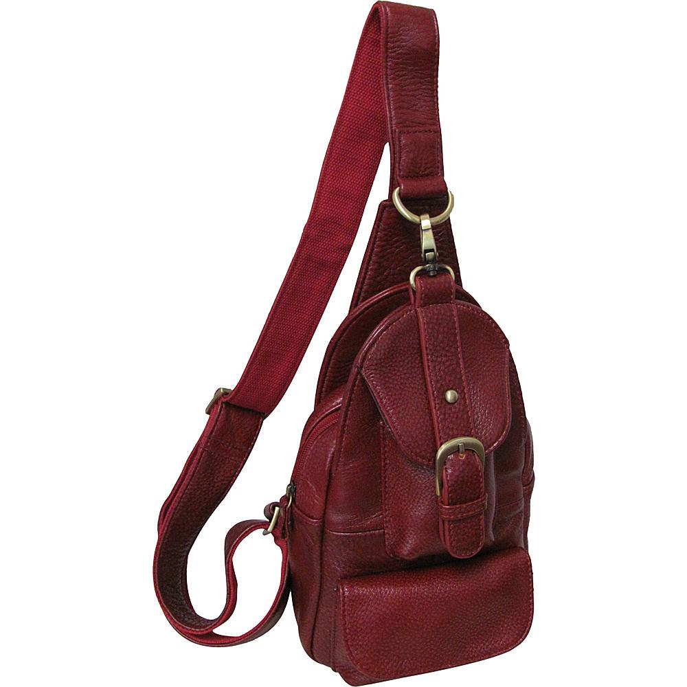 AmeriLeather Grylls Petite Sling Purse Burgundy - AmeriLeather Leather Handbags - Handbags, Leather Handbags