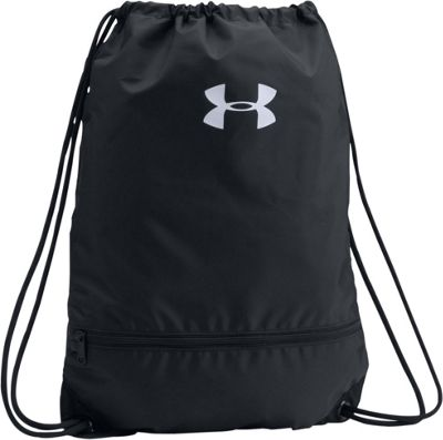 Under Armour UA Team Sackpack Black/Black/White - Under Armour Everyday Backpacks