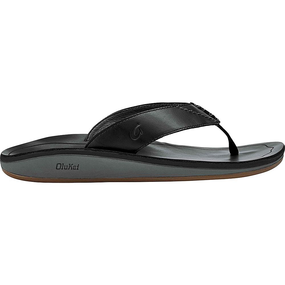 OluKai Mens Nohona IlI Sandals 8 - Black/Black - OluKai Mens Footwear - Apparel & Footwear, Men's Footwear