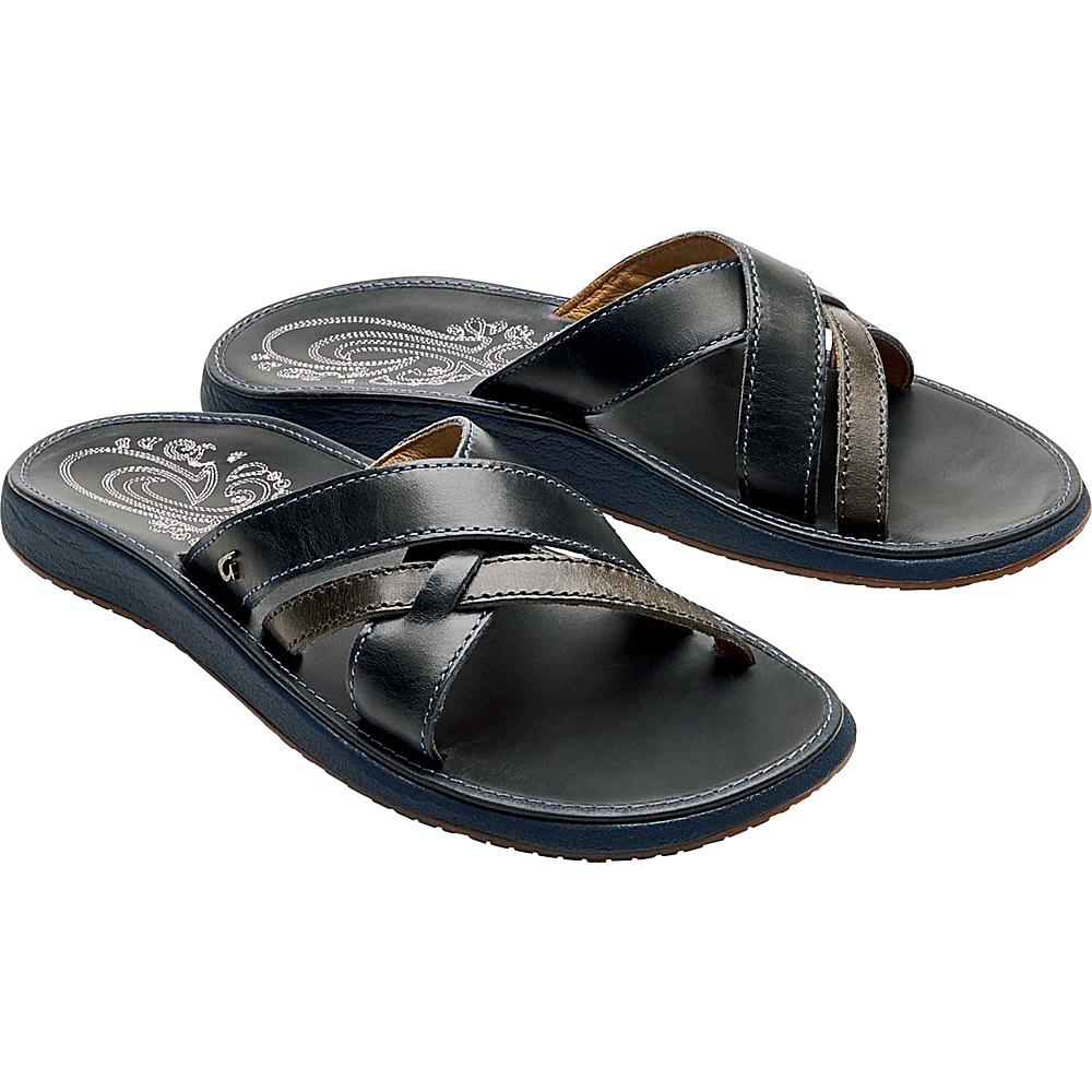 OluKai Womens Paniolo Slide Sandal 5 - Vintage Indigo/Vintage Indigo - OluKai Womens Footwear - Apparel & Footwear, Women's Footwear