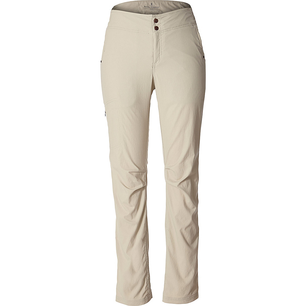 Royal Robbins Womens Jammer II Pant 18 - 32in - Light Khaki - Royal Robbins Womens Apparel - Apparel & Footwear, Women's Apparel