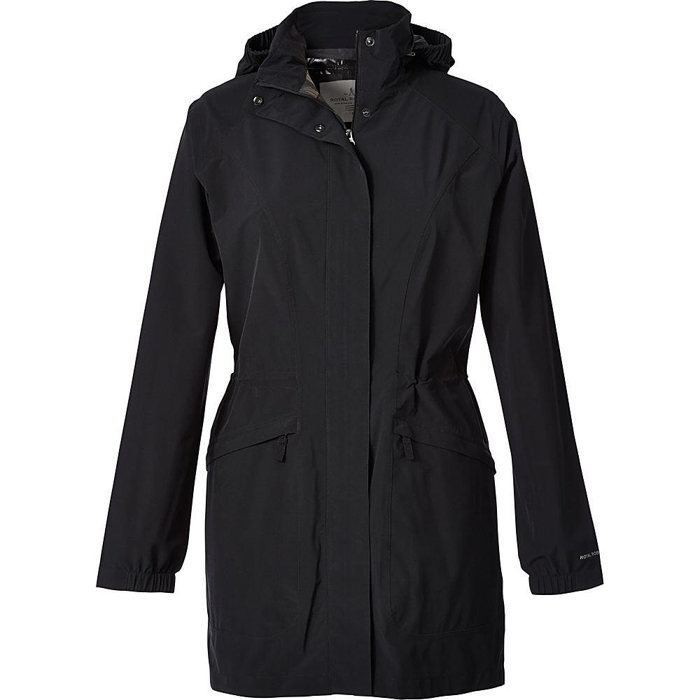 Royal Robbins Womens Oakham Waterproof Trench XXL - Jet Black - Royal Robbins Womens Apparel - Apparel & Footwear, Women's Apparel