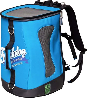 Touchdog Ultimate-Travel Airline Approved Backpack Carrying Water Resistant Pet Carrier Turquoise Blue - Touchdog Pet Bags