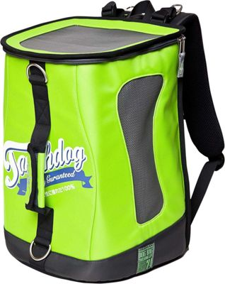 Touchdog Ultimate-Travel Airline Approved Backpack Carrying Water Resistant Pet Carrier Yellow Green - Touchdog Pet Bags