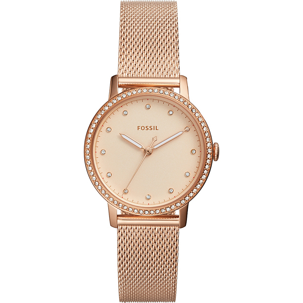 Fossil Neely Three-Hand Rose Gold-Tone Stainless Steel Watch Rose Gold - Fossil Watches - Fashion Accessories, Watches