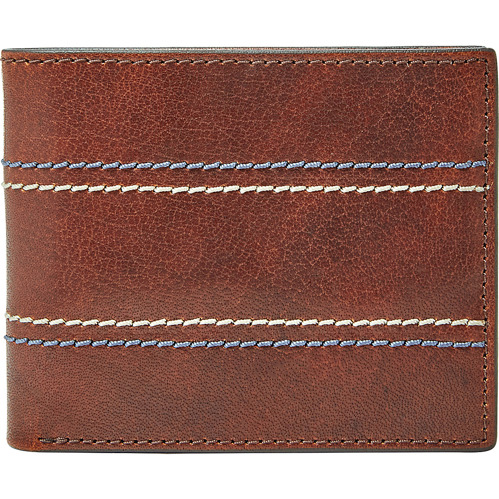 Fossil Reese RFID Flip ID Bifold Brown - Fossil Mens Wallets - Work Bags & Briefcases, Men's Wallets