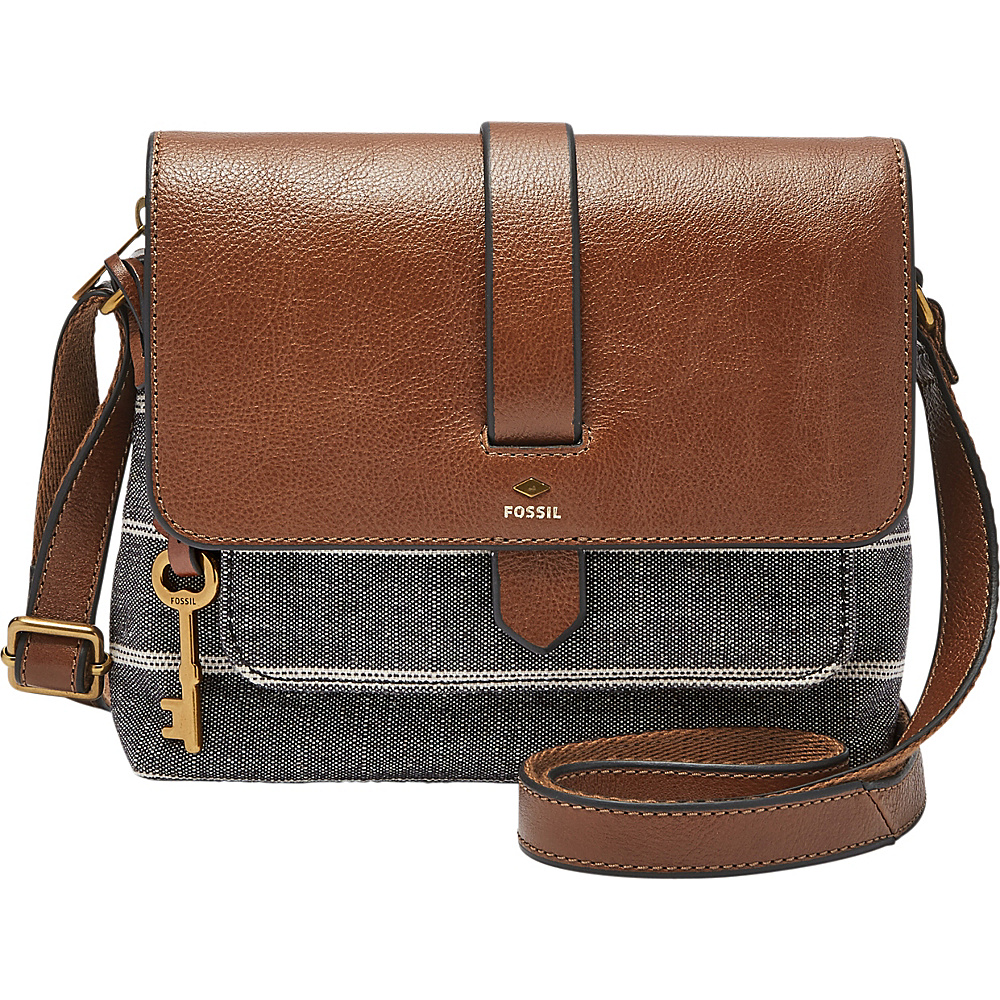 Fossil Kinley Small Crossbody Chambray - Fossil Fabric Handbags - Handbags, Fabric Handbags