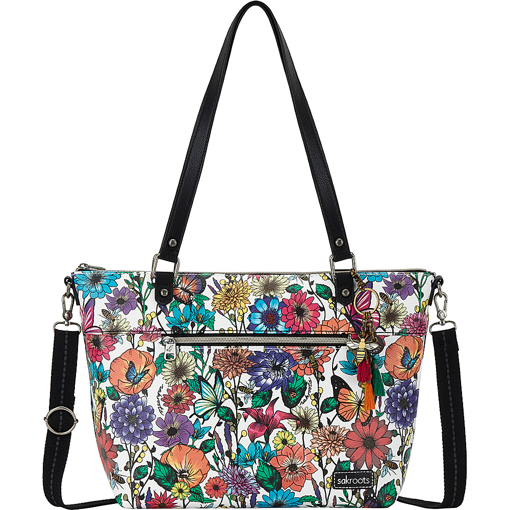 Sakroots City Satchel Optic In Bloom - Sakroots Fabric Handbags - Handbags, Fabric Handbags