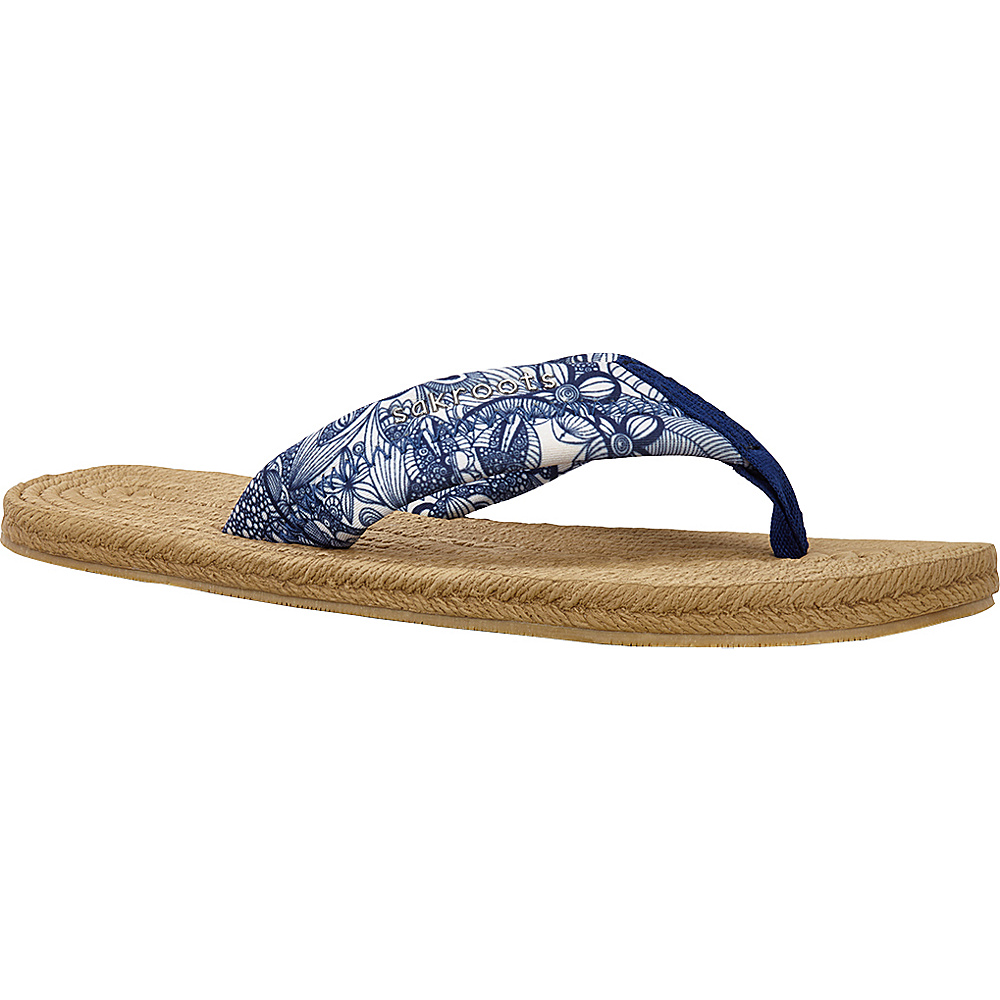 Sakroots Womens Elba Espadrille Sandal 7 - Navy Spirit Desert - Sakroots Womens Footwear - Apparel & Footwear, Women's Footwear