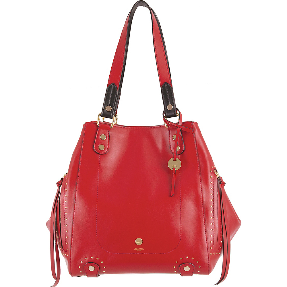 Lodis Pismo Stud RFID Charlize Tote Red - Lodis Leather Handbags - Handbags, Leather Handbags