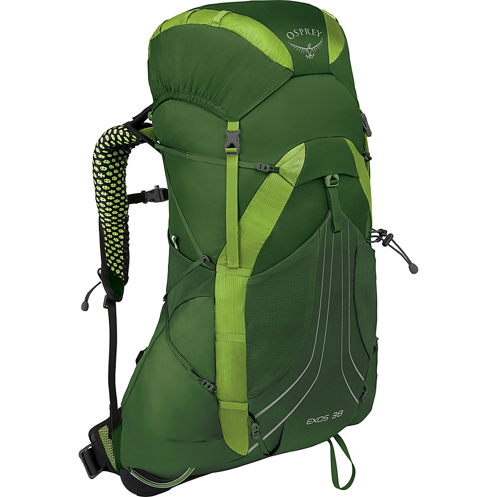 Osprey Exos 38 Hiking Backpack Tunnel Green – MD - Osprey Backpacking Packs - Outdoor, Backpacking Packs