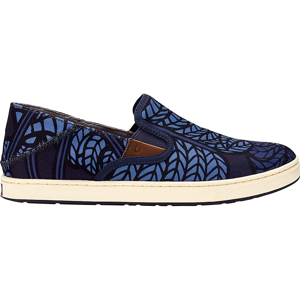 OluKai Mens Kahu POW!WOW! Slip-On 7 - Carbon/Vintage Indigo - OluKai Mens Footwear - Apparel & Footwear, Men's Footwear