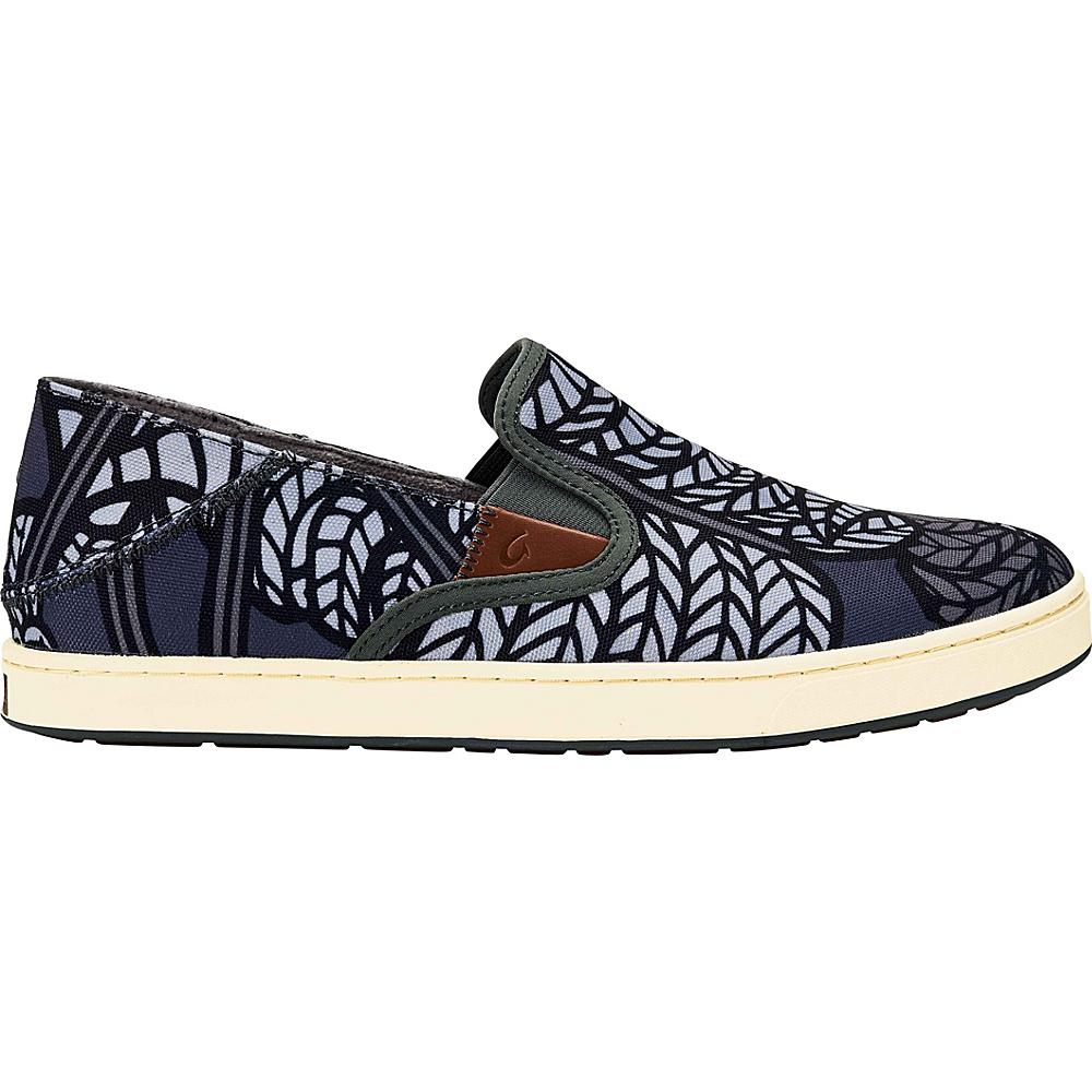 OluKai Mens Kahu POW!WOW! Slip-On 8.5 - Dark Shadow/Wrought Iron - OluKai Mens Footwear - Apparel & Footwear, Men's Footwear