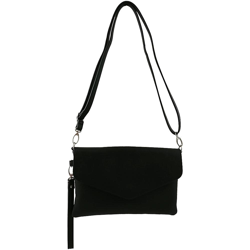 Joelle Hawkens By Treesje Flap Crossbody Black Designer Handbags