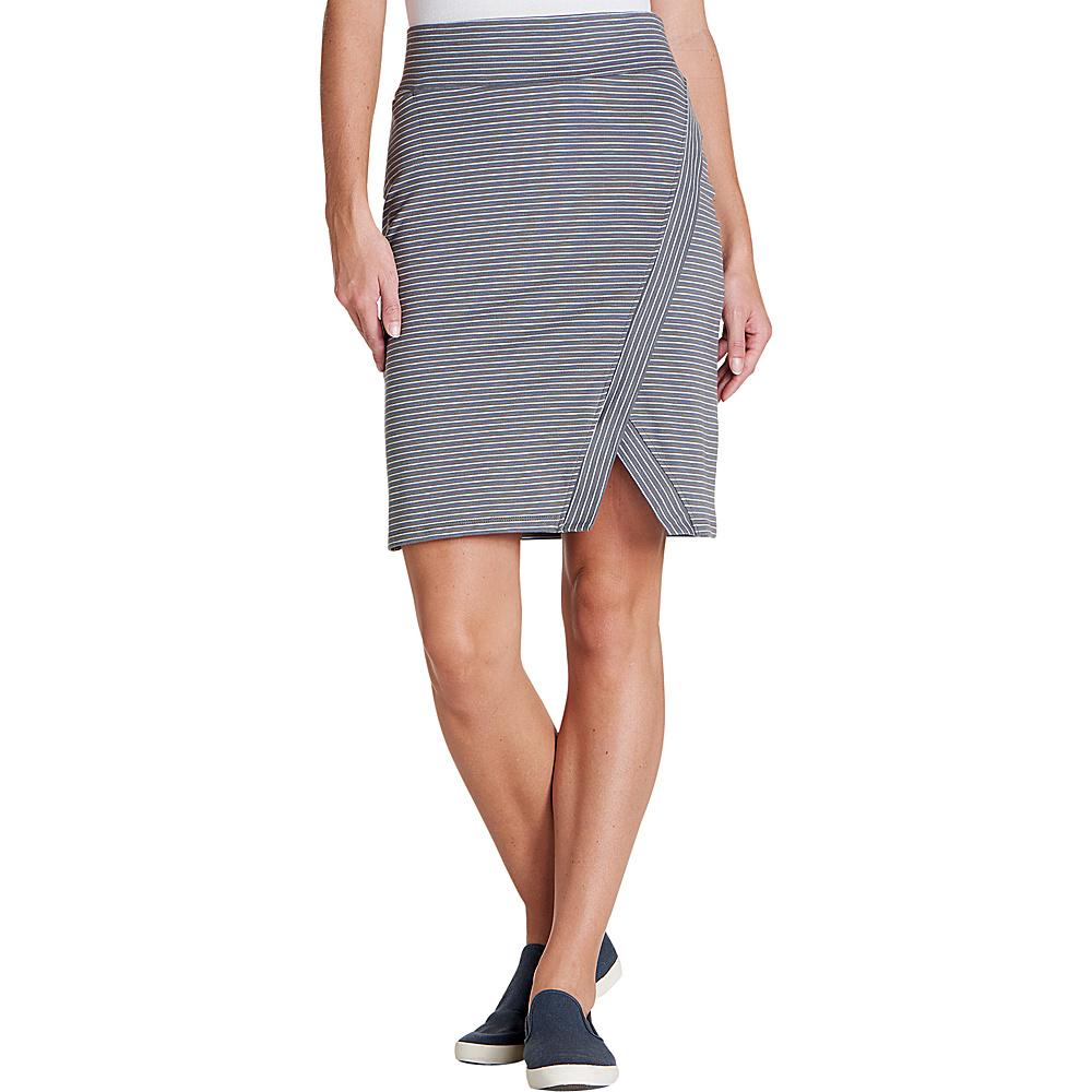 Toad & Co Womens Moxie Skirt M - Smoke Lean Stripe - Toad & Co Womens Apparel - Apparel & Footwear, Women's Apparel