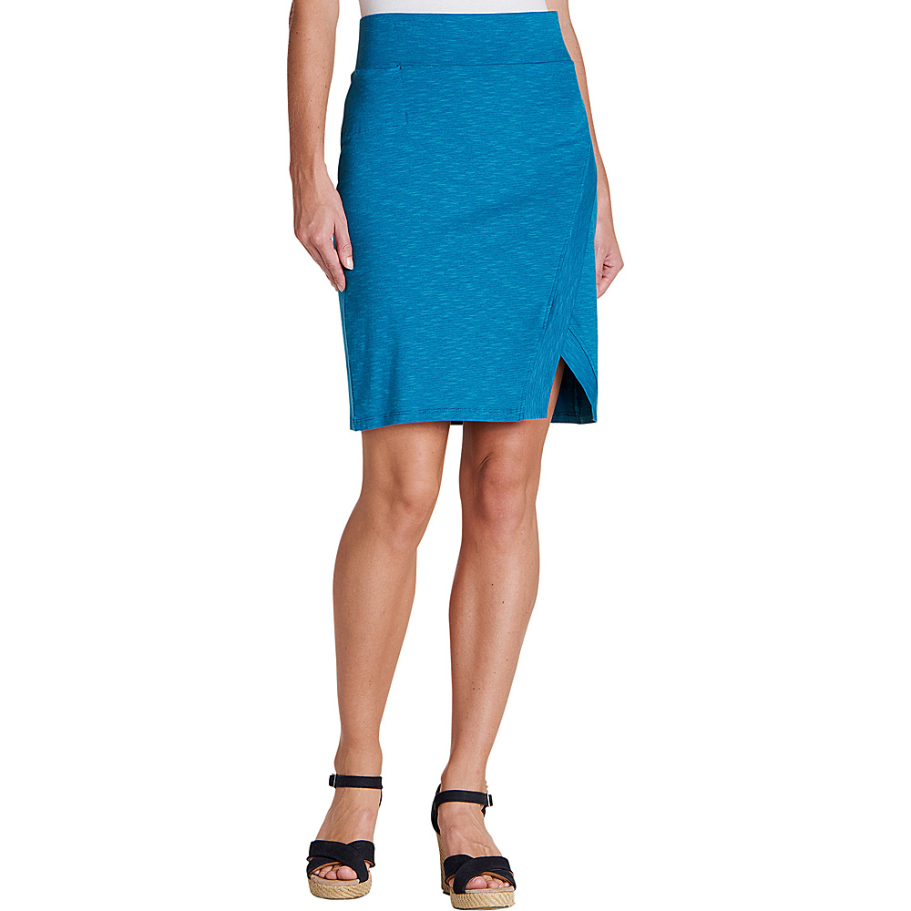 Toad & Co Womens Moxie Skirt L - Deepwater - Toad & Co Womens Apparel - Apparel & Footwear, Women's Apparel
