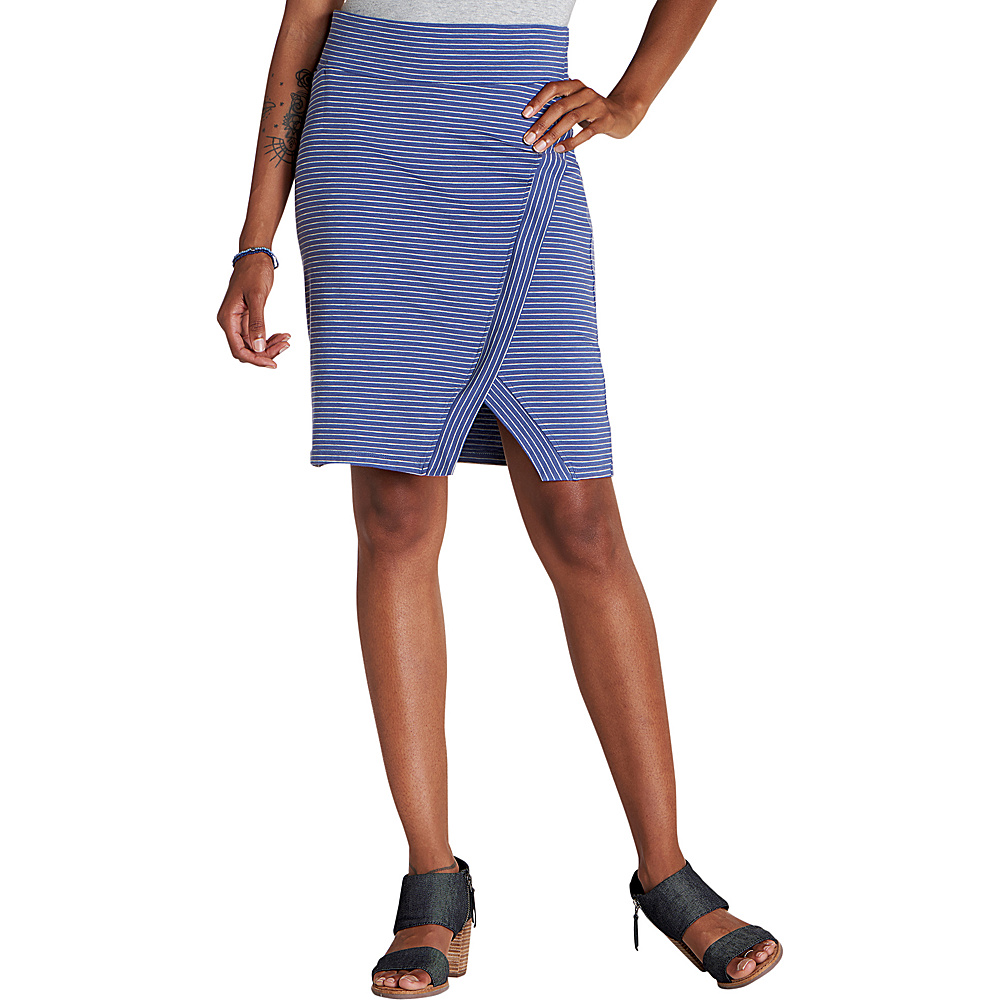 Toad & Co Womens Moxie Skirt XS - Blueberry Stripe - Toad & Co Womens Apparel - Apparel & Footwear, Women's Apparel