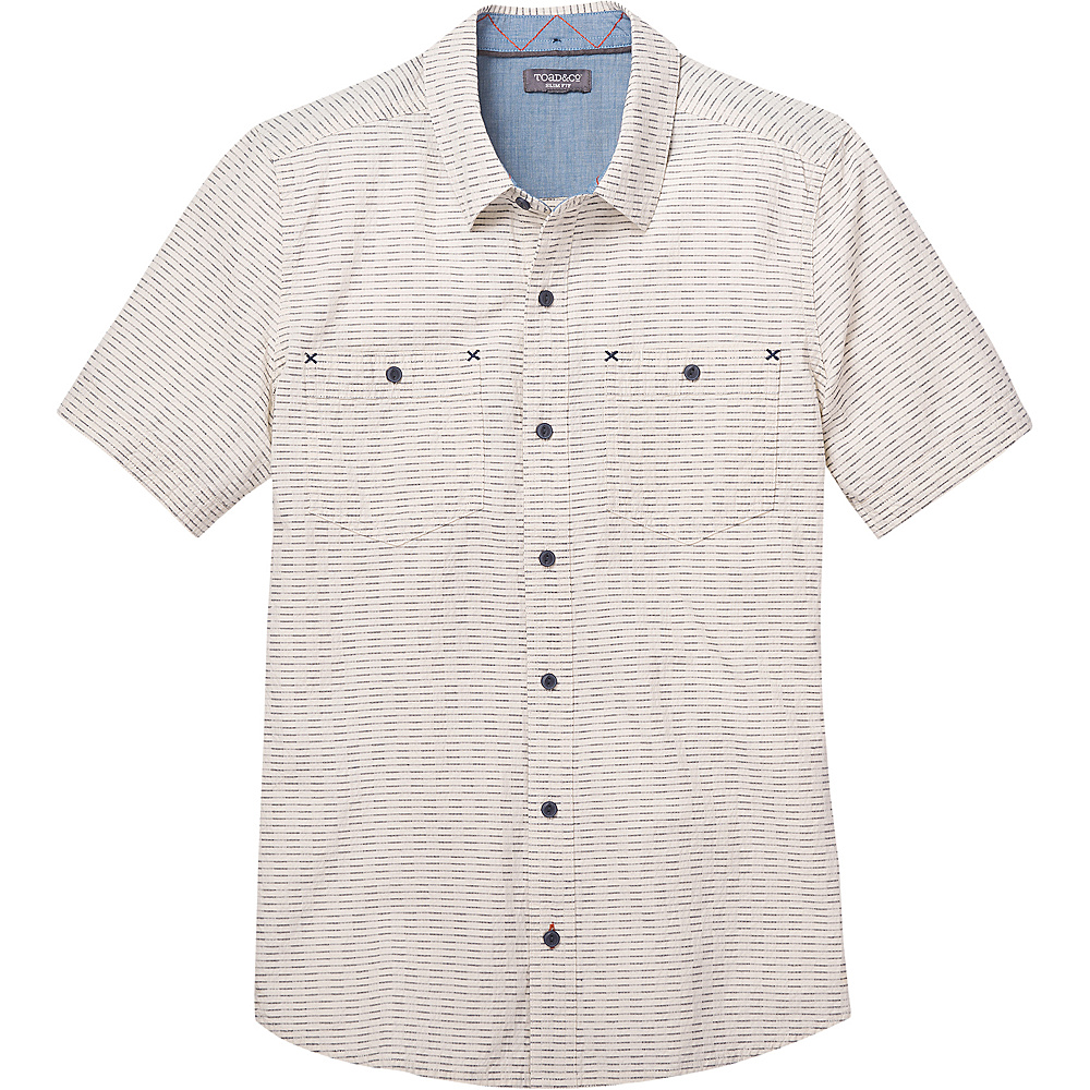 Toad & Co Mens Harris Short Sleeve Slim Shirt M - Salt - Toad & Co Mens Apparel - Apparel & Footwear, Men's Apparel