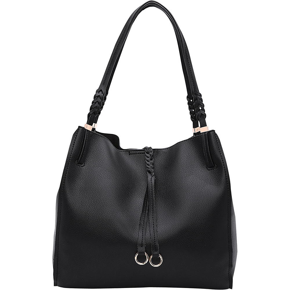 MKF Collection by Mia K. Farrow Brenda Hobo Black - MKF Collection by Mia K. Farrow Manmade Handbags - Handbags, Manmade Handbags