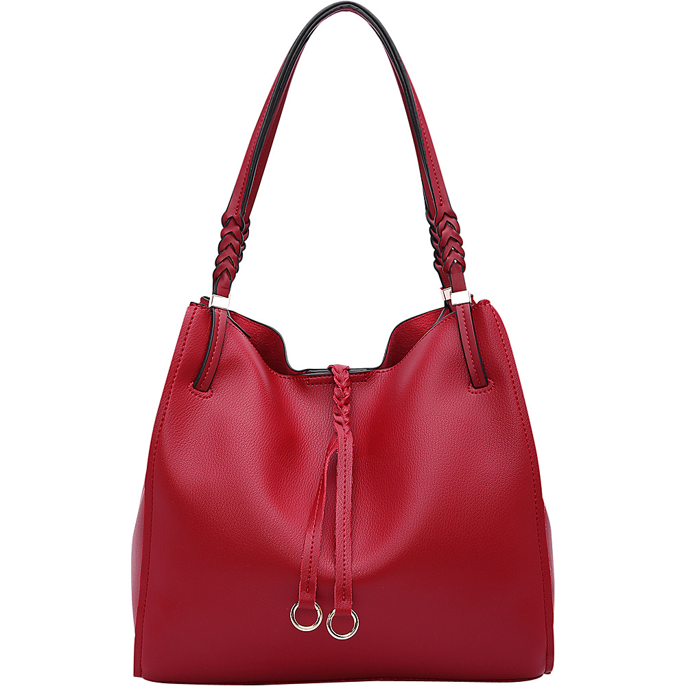 MKF Collection by Mia K. Farrow Brenda Hobo Red - MKF Collection by Mia K. Farrow Manmade Handbags - Handbags, Manmade Handbags