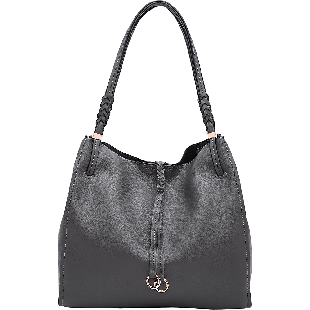 MKF Collection by Mia K. Farrow Brenda Hobo Dark Grey - MKF Collection by Mia K. Farrow Manmade Handbags - Handbags, Manmade Handbags