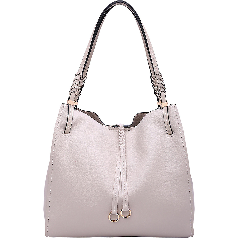 MKF Collection by Mia K. Farrow Brenda Hobo Bone - MKF Collection by Mia K. Farrow Manmade Handbags - Handbags, Manmade Handbags